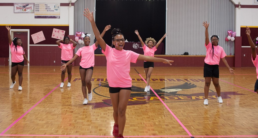 cheerleaders in gym