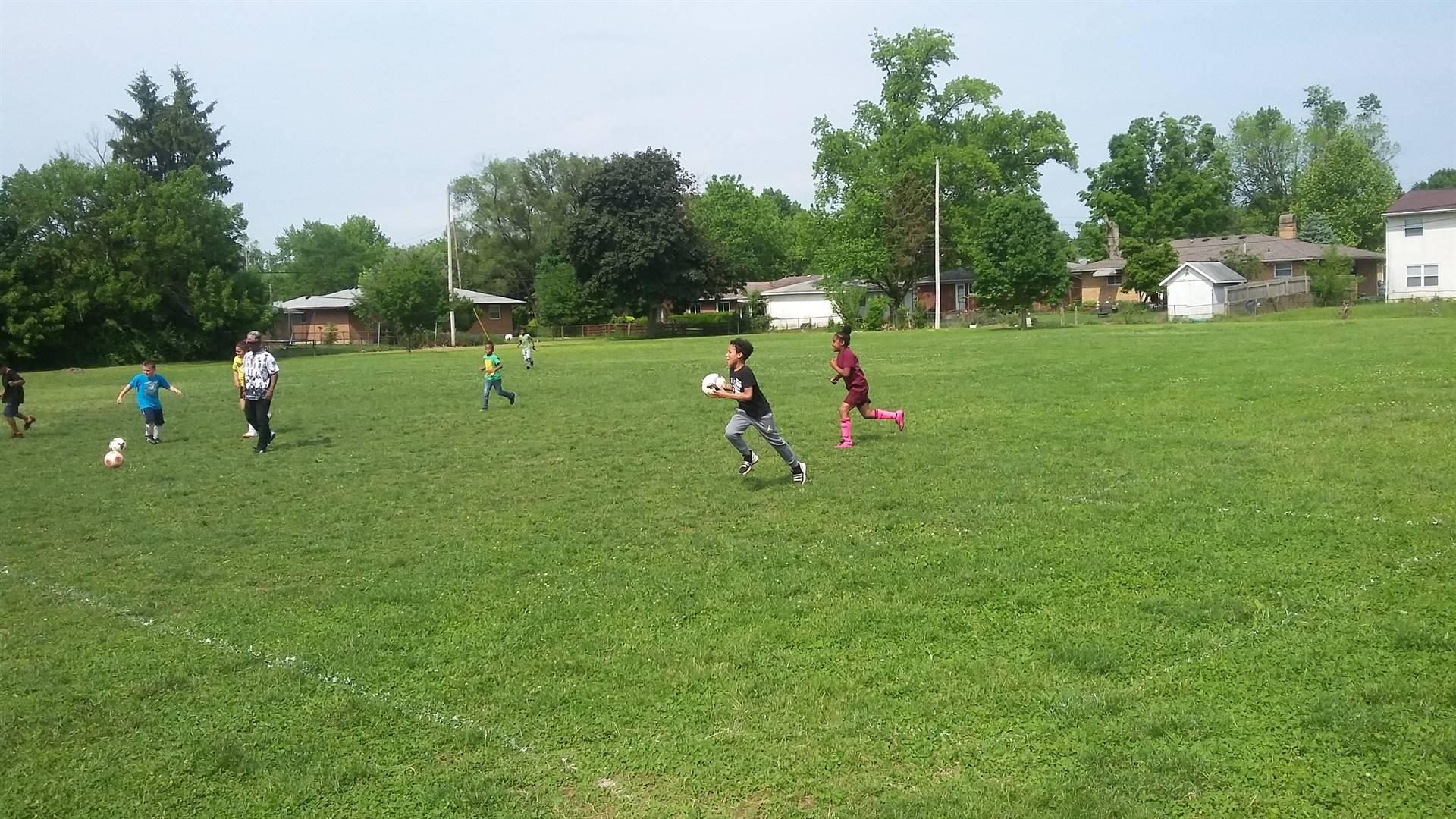 kids playing soccer